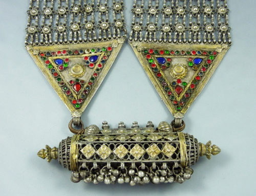 Jaisalmer big traditional silver necklace, Rajasthan, India