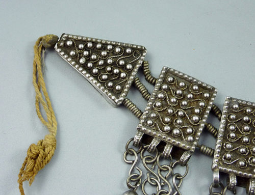 An old traditional Muria wedding silver choker,  Ethiopia