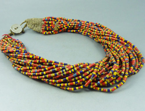 Glass beads Naga necklace, Nagaland, India