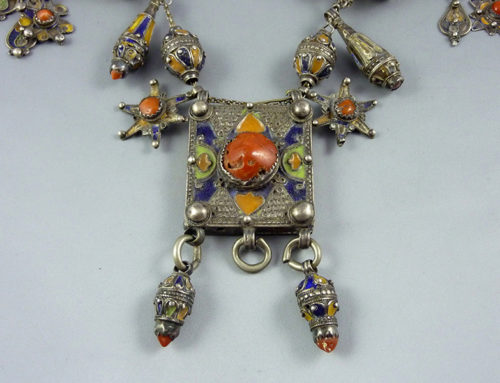 Kabyle silver and coral necklace, Algeria