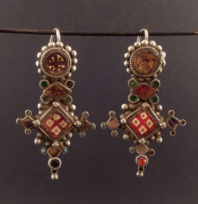 old indian earrings