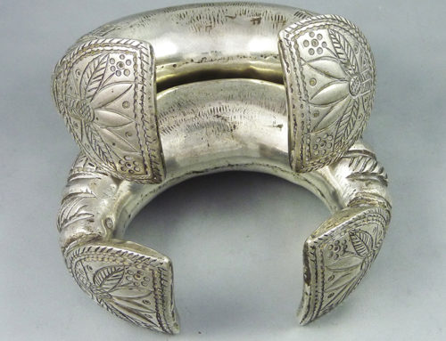 Big silver Rajasthan anklets, India