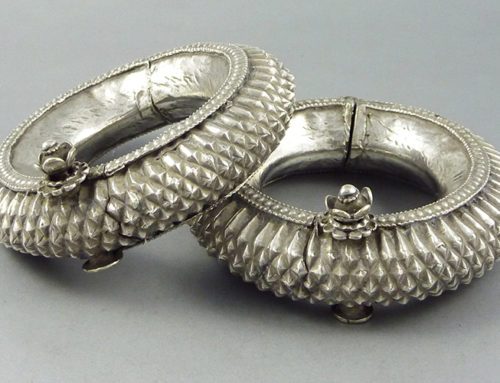 Pair of Rajasthan silver bracelets, India