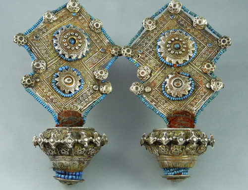 Katawaz earrings/temple adornments, Pakistan