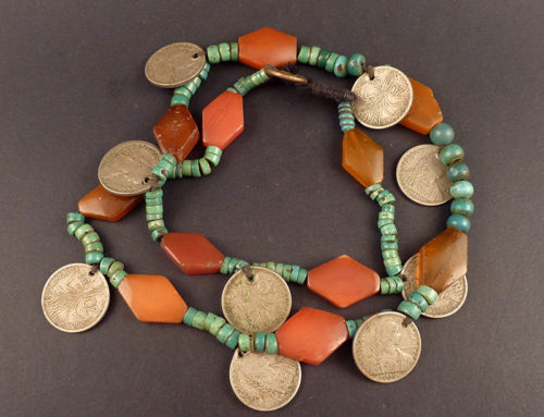 Hill tribe beaded necklace, SE Asia