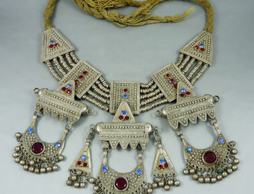 Silver old bedouin necklace, Yemen