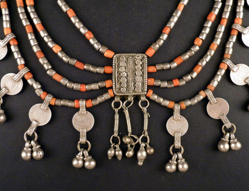 Coral and silver necklace, Yemen