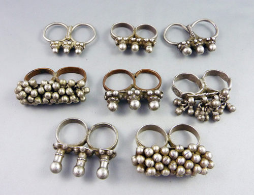 Rajasthan silver double rings, India