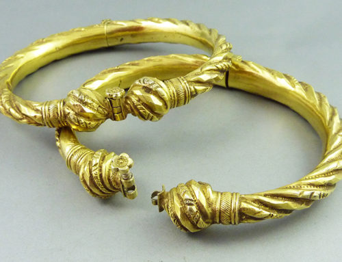 Gilded silver anklets, Indonesia