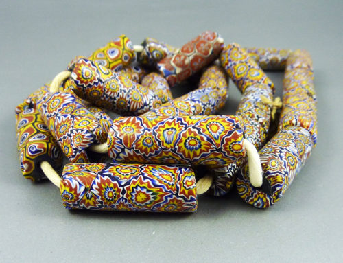 Strand of old matching Venetian millefiori beads