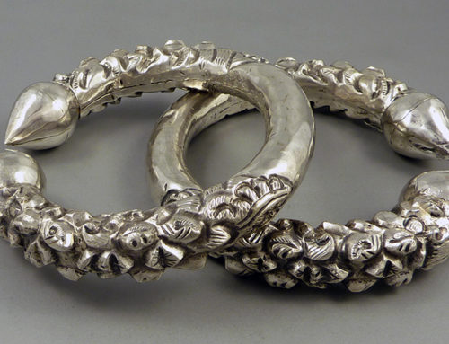 "Pair of silver ""kalli"" anklets, Nepal"