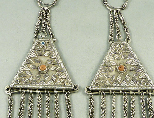 Central Asia silver earrings