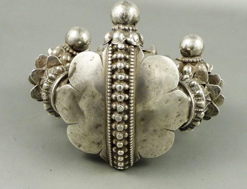Gujarat or Rajasthan silver anklet, India
