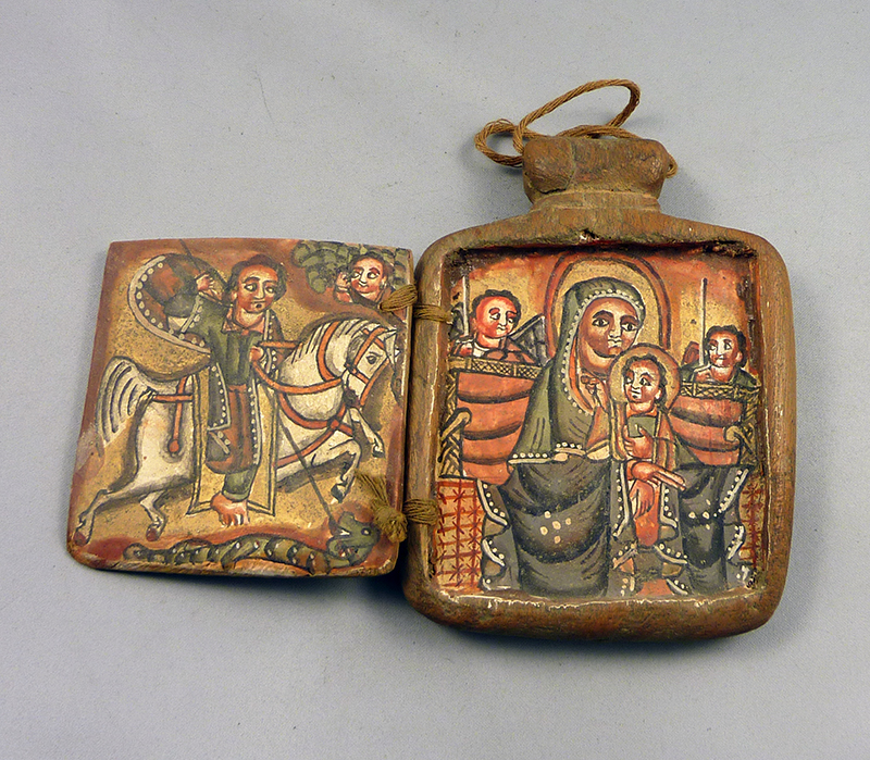Ethiopian wood amulet icon