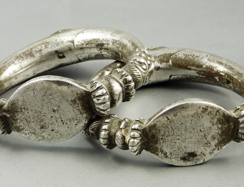Silver Gujarat anklets, India