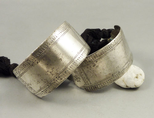 Pair of silver Bazuband, India