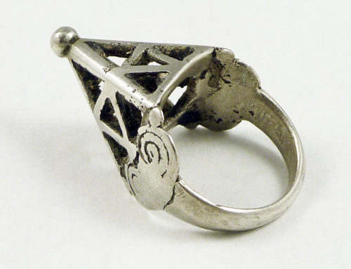 Kanuri silver ring, West Africa