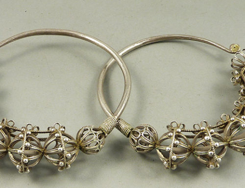 Miao silver earrings, Guizhou, SW China