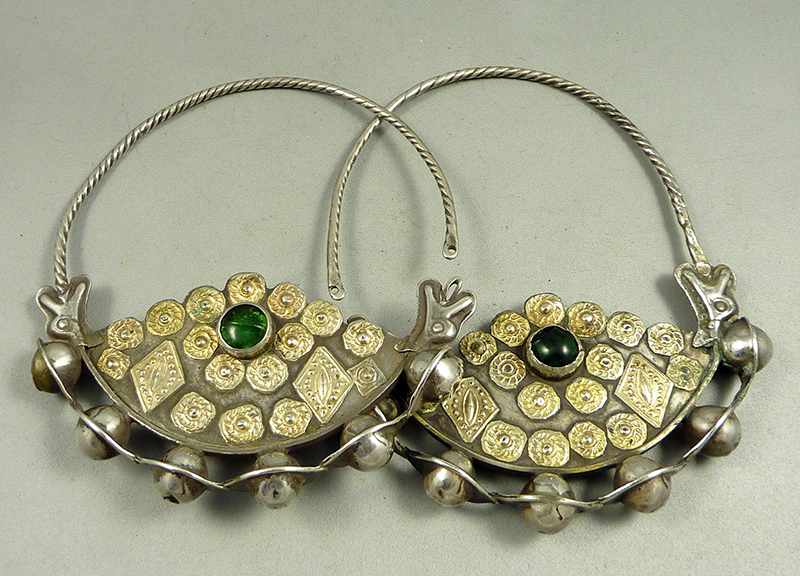 Yomud turkoman earrings